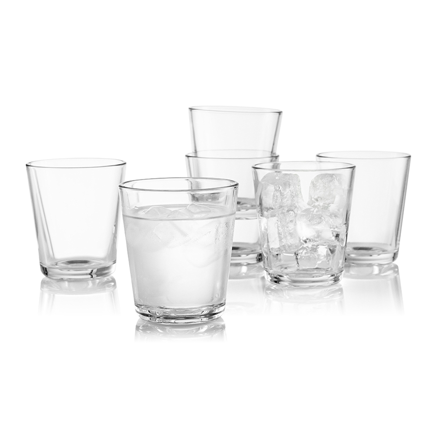 Стаканы 6 шт 250 мл Eva Solo 567425Бокалы и стаканы<br>Набор из 12 стаканов для холодных и горячих &amp;#40,до 130С&amp;#41, напитков. Также стаканы можно использовать для десертов. Прочное выдувное стекло. Объем 250 мл, простая и стильная форма. Стаканы подойдут для ежедневного использования и отлично будут смотреться на праздничном столе.<br>