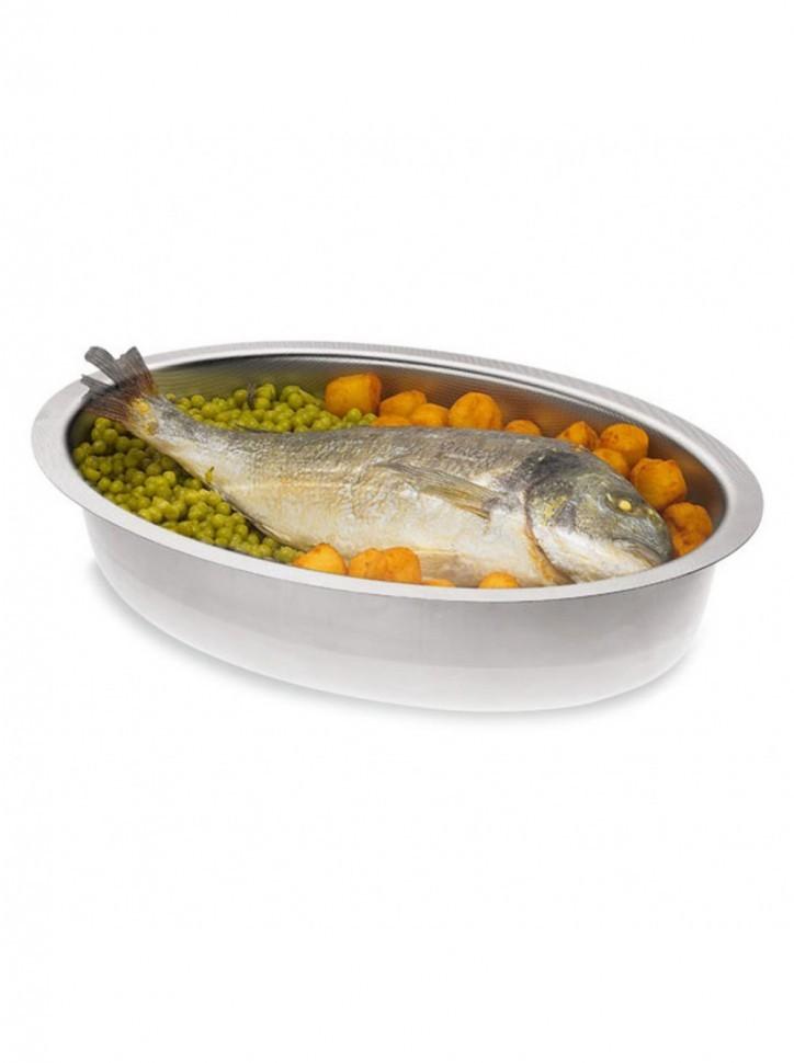 Форма Frabosk Fornomania для рыбы 33х25, нержавеющая сталь 18/10 38214Формы для запекания (выпечки)<br><br>