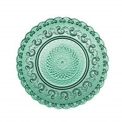 Loving Стекло Casa Alegre, Португалия<br>Loving Тарелка темно-зеленая<br>Материал - стекло Диам.158 мм<br>Бренд Casa Alegre<br>Производитель: Vista Alegre Atlantis, Португалия<br>