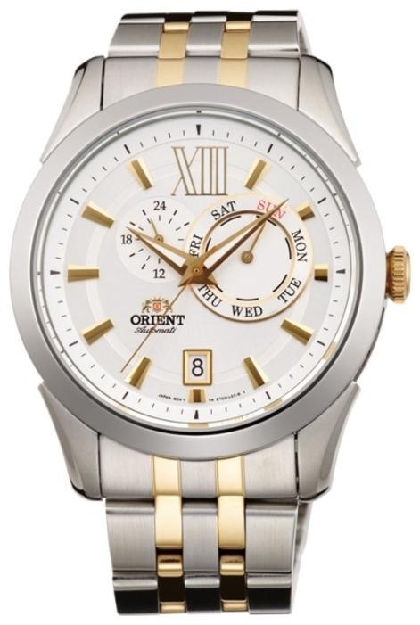 Orient ET0X002W / FET0X002W0 - мужские наручные часыORIENT<br><br><br>Бренд: ORIENT<br>Модель: ORIENT ET0X002W<br>Артикул: ET0X002W<br>Вариант артикула: FET0X002W0<br>Коллекция: None<br>Подколлекция: None<br>Страна: Япония<br>Пол: мужские<br>Тип механизма: механические<br>Механизм: 46B40<br>Количество камней: None<br>Автоподзавод: есть<br>Источник энергии: пружинный механизм<br>Срок службы элемента питания: None<br>Дисплей: стрелки<br>Цифры: римские<br>Водозащита: WR 50<br>Противоударные: None<br>Материал корпуса: нерж. сталь, PVD покрытие: позолота (частичное)<br>Материал браслета: нерж. сталь, PVD покрытие (частичное): позолота<br>Материал безеля: None<br>Стекло: минеральное<br>Антибликовое покрытие: None<br>Цвет корпуса: None<br>Цвет браслета: None<br>Цвет циферблата: None<br>Цвет безеля: None<br>Размеры: 42 мм<br>Диаметр: None<br>Диаметр корпуса: None<br>Толщина: None<br>Ширина ремешка: None<br>Вес: None<br>Спорт-функции: None<br>Подсветка: стрелок<br>Вставка: None<br>Отображение даты: число, день недели<br>Хронограф: None<br>Таймер: None<br>Термометр: None<br>Хронометр: None<br>GPS: None<br>Радиосинхронизация: None<br>Барометр: None<br>Скелетон: None<br>Дополнительная информация: None<br>Дополнительные функции: None