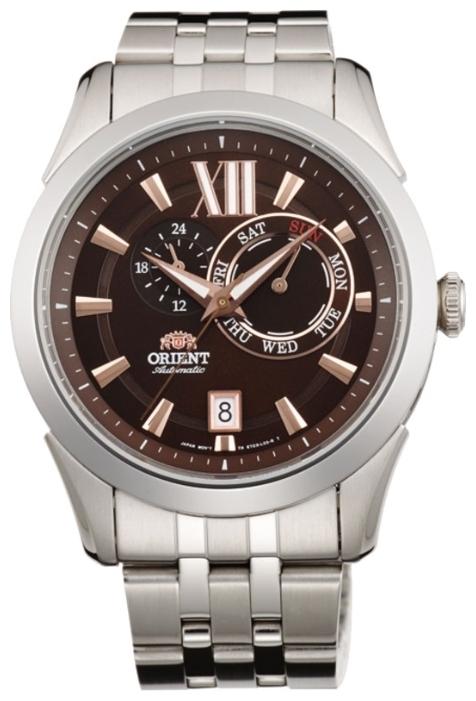 Orient ET0X003T / FET0X003T0 - мужские наручные часыORIENT<br><br><br>Бренд: ORIENT<br>Модель: ORIENT ET0X003T<br>Артикул: ET0X003T<br>Вариант артикула: FET0X003T0<br>Коллекция: None<br>Подколлекция: None<br>Страна: Япония<br>Пол: мужские<br>Тип механизма: механические<br>Механизм: 46B40<br>Количество камней: None<br>Автоподзавод: есть<br>Источник энергии: пружинный механизм<br>Срок службы элемента питания: None<br>Дисплей: стрелки<br>Цифры: римские<br>Водозащита: WR 50<br>Противоударные: None<br>Материал корпуса: нерж. сталь<br>Материал браслета: нерж. сталь<br>Материал безеля: None<br>Стекло: минеральное<br>Антибликовое покрытие: None<br>Цвет корпуса: None<br>Цвет браслета: None<br>Цвет циферблата: None<br>Цвет безеля: None<br>Размеры: 42 мм<br>Диаметр: None<br>Диаметр корпуса: None<br>Толщина: None<br>Ширина ремешка: None<br>Вес: None<br>Спорт-функции: None<br>Подсветка: стрелок<br>Вставка: None<br>Отображение даты: число, день недели<br>Хронограф: None<br>Таймер: None<br>Термометр: None<br>Хронометр: None<br>GPS: None<br>Радиосинхронизация: None<br>Барометр: None<br>Скелетон: None<br>Дополнительная информация: None<br>Дополнительные функции: None