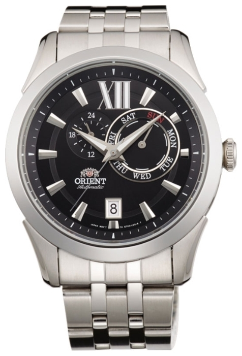 Orient ET0X004B / FET0X004B0 - мужские наручные часыORIENT<br><br><br>Бренд: ORIENT<br>Модель: ORIENT ET0X004B<br>Артикул: ET0X004B<br>Вариант артикула: FET0X004B0<br>Коллекция: None<br>Подколлекция: None<br>Страна: Япония<br>Пол: мужские<br>Тип механизма: механические<br>Механизм: 46B40<br>Количество камней: None<br>Автоподзавод: есть<br>Источник энергии: пружинный механизм<br>Срок службы элемента питания: None<br>Дисплей: стрелки<br>Цифры: римские<br>Водозащита: WR 50<br>Противоударные: None<br>Материал корпуса: нерж. сталь<br>Материал браслета: нерж. сталь<br>Материал безеля: None<br>Стекло: минеральное<br>Антибликовое покрытие: None<br>Цвет корпуса: None<br>Цвет браслета: None<br>Цвет циферблата: None<br>Цвет безеля: None<br>Размеры: 42 мм<br>Диаметр: None<br>Диаметр корпуса: None<br>Толщина: None<br>Ширина ремешка: None<br>Вес: None<br>Спорт-функции: None<br>Подсветка: стрелок<br>Вставка: None<br>Отображение даты: число, день недели<br>Хронограф: None<br>Таймер: None<br>Термометр: None<br>Хронометр: None<br>GPS: None<br>Радиосинхронизация: None<br>Барометр: None<br>Скелетон: None<br>Дополнительная информация: None<br>Дополнительные функции: None