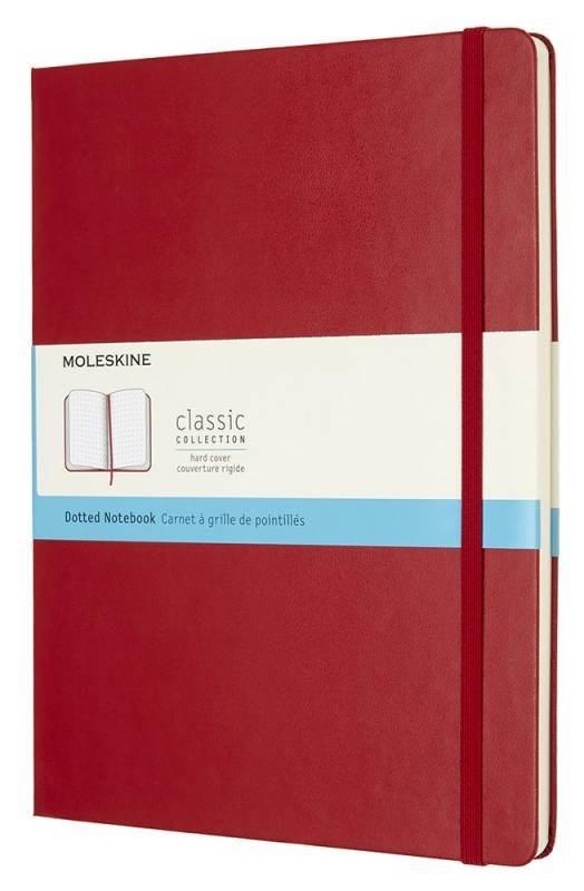 Блокнот Moleskine Classic XLarge, цвет красный, пунктирMOLESKINE<br>Количество страниц: 192<br><br><br><br><br><br><br>Особенности: фиксирующая резинка<br><br><br><br><br><br><br>Плотность листов: 70<br>