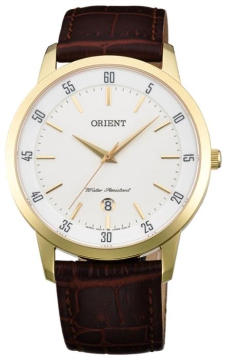 Orient UNG5002W / FUNG5002W0 - мужские наручные часыORIENT<br><br><br>Бренд: ORIENT<br>Модель: ORIENT UNG5002W<br>Артикул: UNG5002W<br>Вариант артикула: FUNG5002W0<br>Коллекция: None<br>Подколлекция: None<br>Страна: Япония<br>Пол: мужские<br>Тип механизма: кварцевые<br>Механизм: HT7<br>Количество камней: None<br>Автоподзавод: None<br>Источник энергии: от батарейки<br>Срок службы элемента питания: None<br>Дисплей: стрелки<br>Цифры: отсутствуют<br>Водозащита: WR 30<br>Противоударные: None<br>Материал корпуса: нерж. сталь, IP покрытие: позолота (полное)<br>Материал браслета: кожа (не указан)<br>Материал безеля: None<br>Стекло: минеральное<br>Антибликовое покрытие: None<br>Цвет корпуса: None<br>Цвет браслета: None<br>Цвет циферблата: None<br>Цвет безеля: None<br>Размеры: 39 мм<br>Диаметр: None<br>Диаметр корпуса: None<br>Толщина: None<br>Ширина ремешка: None<br>Вес: None<br>Спорт-функции: None<br>Подсветка: None<br>Вставка: None<br>Отображение даты: число<br>Хронограф: None<br>Таймер: None<br>Термометр: None<br>Хронометр: None<br>GPS: None<br>Радиосинхронизация: None<br>Барометр: None<br>Скелетон: None<br>Дополнительная информация: None<br>Дополнительные функции: None