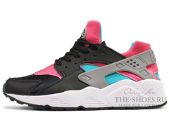 Кроссовки Женские Nike Air Huarache Black Pink Blue