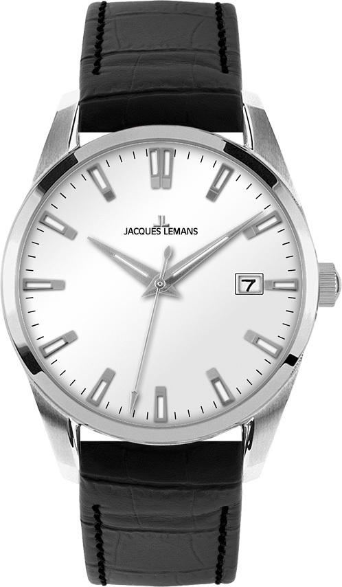 Jacques Lemans 1-1769D - мужские наручные часы из коллекции LiverpoolJacques Lemans<br><br><br>Бренд: Jacques Lemans<br>Модель: Jacques Lemans 1-1769D<br>Артикул: 1-1769D<br>Вариант артикула: None<br>Коллекция: Liverpool<br>Подколлекция: None<br>Страна: Австрия<br>Пол: мужские<br>Тип механизма: кварцевые<br>Механизм: None<br>Количество камней: None<br>Автоподзавод: None<br>Источник энергии: от батарейки<br>Срок службы элемента питания: None<br>Дисплей: стрелки<br>Цифры: отсутствуют<br>Водозащита: WR 10<br>Противоударные: None<br>Материал корпуса: нерж. сталь<br>Материал браслета: кожа<br>Материал безеля: None<br>Стекло: Crystex<br>Антибликовое покрытие: None<br>Цвет корпуса: None<br>Цвет браслета: None<br>Цвет циферблата: None<br>Цвет безеля: None<br>Размеры: 39 мм<br>Диаметр: None<br>Диаметр корпуса: None<br>Толщина: None<br>Ширина ремешка: None<br>Вес: None<br>Спорт-функции: None<br>Подсветка: стрелок<br>Вставка: None<br>Отображение даты: число<br>Хронограф: None<br>Таймер: None<br>Термометр: None<br>Хронометр: None<br>GPS: None<br>Радиосинхронизация: None<br>Барометр: None<br>Скелетон: None<br>Дополнительная информация: None<br>Дополнительные функции: None