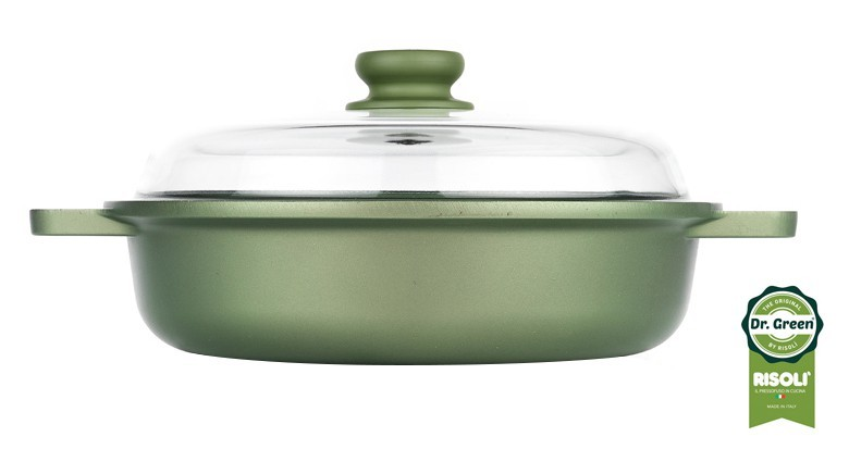 Сотейник со стеклянной крышкой Risoli Dr Green Induction 28см 00099DRIN/28Сотейники<br><br>