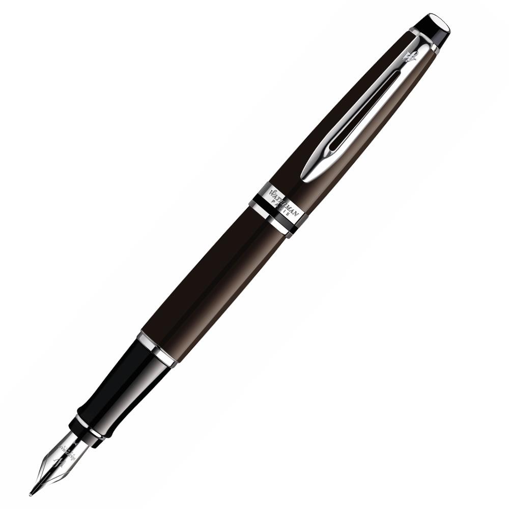 Waterman Expert - Brown CT, перьевая ручка, FExpert<br>Владелец перьевой ручки Waterman Expert Brown CT – это человек уверенный в себе, целеустремленный, успешный и с утонченным вкусом. Он знает, чего хочет от жизни и предпочитает оригинальность и безукоризненное качество. Перьевые ручки Waterman – это эталон в производстве высококлассных инструментов для рукотворного письма. В них отражается вся богатая история компании и ее почти полуторавековой опыт. За 130 лет своей деятельности торговая марка никогда не останавливалась на достигнутом и неустанно стремилась к совершенству, радуя своих почитателей новациями и новыми моделями. Ассортимент компании просто впечатляет своим размахом, в нем найдется идеальный вариант даже для самого привередливого потребителя.<br>Разрушая стереотипы<br>Особого внимания заслуживает серия канцелярских принадлежностей Expert. Такое название неслучайно. В этой коллекции находятся модели ручек, достойные рук настоящих профессионалов и истинных ценителей искусства рукотворного письма. Существует стереотип, что перьевая ручка ненадежна и в любой момент, как правило, самый неподходящий, может подвести своего обладателя. Но это было в прошлом. Современные перьевые ручки мало чем схожи с аналогами прошлого века. Абсолютно все модели серии Expert, впрочем, как и все Ватерман ручки, удобны, функциональны, практичны, надежны, прочны, легки в эксплуатации, не требуют сложного ухода и отличаются эксклюзивным дизайном. Современный перьевой письменный инструмент позволяет максимально насладиться процессом рукотворного письма и быть всегда уверенным в превосходном результате.<br>Красота и практичность в одном флаконе<br>В производстве своей продукции компания учитывает массу разных факторов и особенное внимание уделяет запросам и желаниям потребителей. В каждой модели канцелярских принадлежностей отображаются истинные потребности их владельцев. Именно поэтому бренд Ватерман обладает всемирной славой и невероятно огромной популярностью. Перьевая ручка E