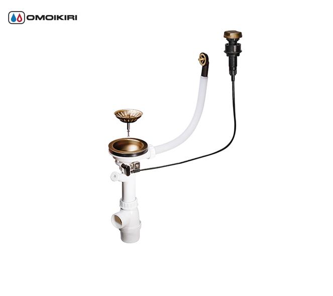 Клапан-автомат для одночашных моек OMOIKIRI A-02-AB-1 (4996007)Аксессуары для моек<br>Клапан-автомат для одночашных моек OMOIKIRI A-02-AB-1 (4996007)<br><br>Клапан-автомат для одночашевых моек A-02-AB-1 служит для отвода воды из чаши мойки. Решетка в сливном отверстии выполняет функцию фильтра и не дает крупным частицам попасть в отводящую трубу. Квадратная ручка управления устанавливается на мойке или столешнице.<br>