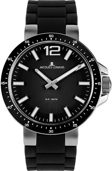 Jacques Lemans 1-1707A - женские наручные часы из коллекции SportJacques Lemans<br><br><br>Бренд: Jacques Lemans<br>Модель: Jacques Lemans 1-1707A<br>Артикул: 1-1707A<br>Вариант артикула: None<br>Коллекция: Sport<br>Подколлекция: None<br>Страна: Австрия<br>Пол: женские<br>Тип механизма: кварцевые<br>Механизм: None<br>Количество камней: None<br>Автоподзавод: None<br>Источник энергии: от батарейки<br>Срок службы элемента питания: None<br>Дисплей: стрелки<br>Цифры: арабские<br>Водозащита: WR 10<br>Противоударные: None<br>Материал корпуса: нерж. сталь<br>Материал браслета: силикон<br>Материал безеля: None<br>Стекло: Crystex<br>Антибликовое покрытие: None<br>Цвет корпуса: None<br>Цвет браслета: None<br>Цвет циферблата: None<br>Цвет безеля: None<br>Размеры: 30 мм<br>Диаметр: None<br>Диаметр корпуса: None<br>Толщина: None<br>Ширина ремешка: None<br>Вес: None<br>Спорт-функции: None<br>Подсветка: стрелок<br>Вставка: None<br>Отображение даты: None<br>Хронограф: None<br>Таймер: None<br>Термометр: None<br>Хронометр: None<br>GPS: None<br>Радиосинхронизация: None<br>Барометр: None<br>Скелетон: None<br>Дополнительная информация: None<br>Дополнительные функции: None