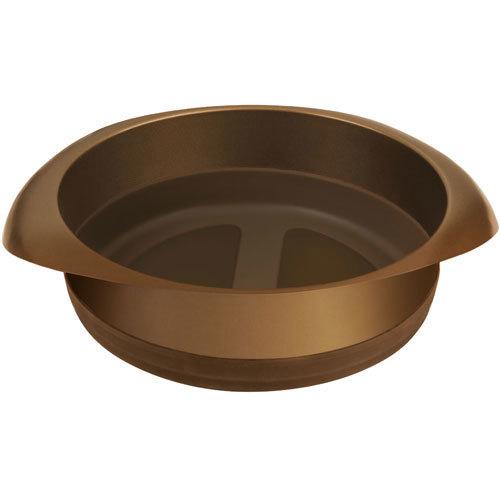Форма для выпечки Rondell Mocco&amp;Latte 18 см RDF-445Формы для выпечки Rondell<br>Форма для выпечки Rondell Mocco&amp;Latte 18 см RDF-445<br><br>Размер:  18 см.<br>Углеродистая сталь - 0.8 мм. и силикон. Внутреннее антипригарным покрытием Quantum от Whitford. Внешнее антипригарное покрытие для легкого ухода. Силиконовые элементы, облегчающие извлечение выпечки из формы. Упаковка - подарочная коробка. Буклет с рецептами. Подходит для использования в посудомоечных машинах.<br>