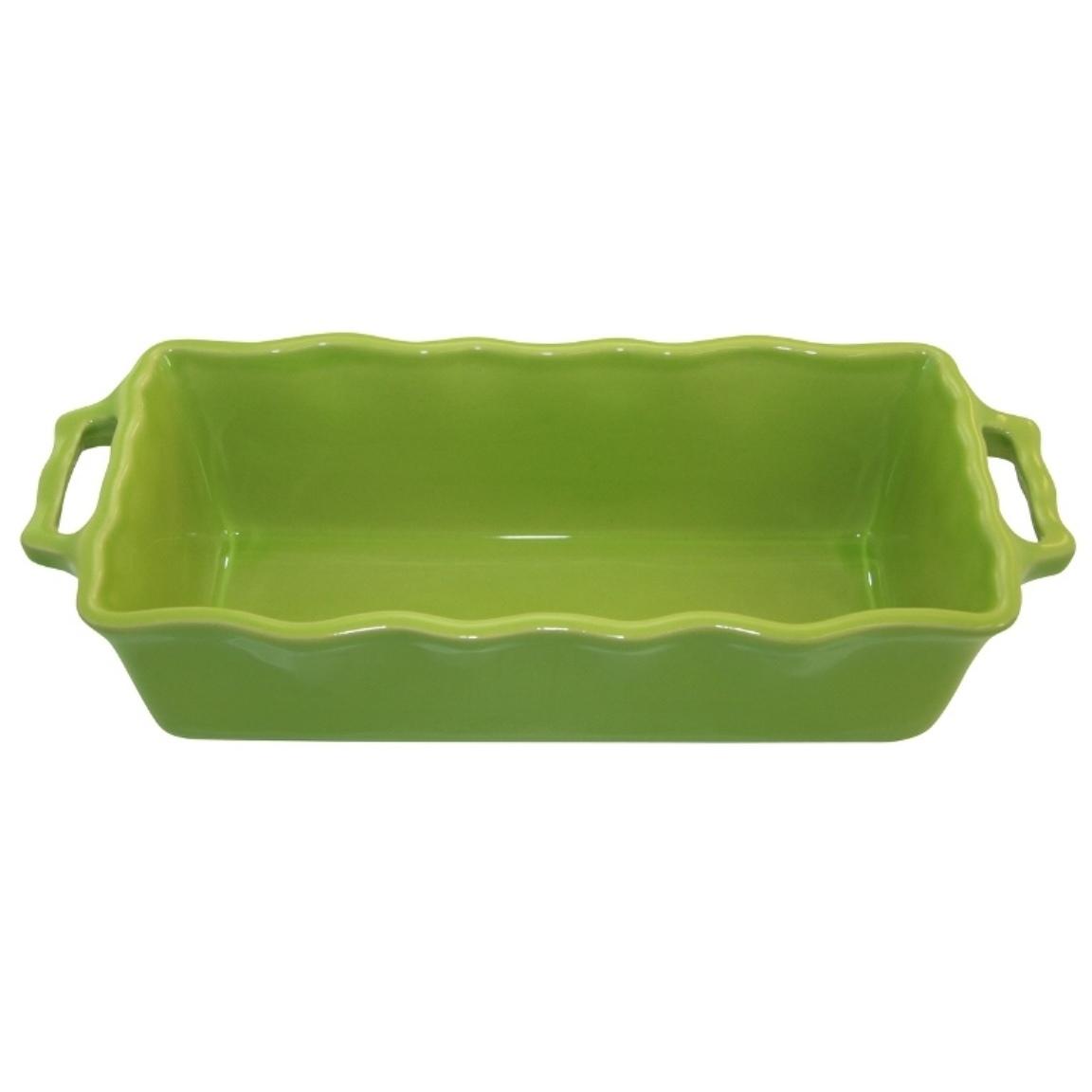 Форма для кекса 33 см Appolia Delices LIME 112033027Формы для запекания (выпечки)<br>Форма для кекса 33 см Appolia Delices LIME 112033027<br><br>Благодаря большому разнообразию изящных форм и широкой цветовой гамме, коллекция DELICES предлагает всевозможные варианты приготовления блюд для себя и гостей. Выбирайте цвета в соответствии с вашими желаниями и вашей кухне. Закругленные углы облегчают чистку. Легко использовать. Большие удобные ручки. Прочная жароустойчивая керамика экологична и изготавливается из высококачественной глины. Прочная глазурь устойчива к растрескиванию и сколам, не содержит свинца и кадмия. Глина обеспечивает медленный и равномерный нагрев, деликатное приготовление с сохранением всех питательных веществ и витаминов, а та же долго сохраняет тепло, что удобно при сервировке горячих блюд.<br>