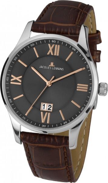 Jacques Lemans 1-1845N - мужские наручные часы из коллекции LondonJacques Lemans<br><br><br>Бренд: Jacques Lemans<br>Модель: Jacques Lemans 1-1845N<br>Артикул: 1-1845N<br>Вариант артикула: None<br>Коллекция: London<br>Подколлекция: None<br>Страна: Австрия<br>Пол: мужские<br>Тип механизма: кварцевые<br>Механизм: None<br>Количество камней: None<br>Автоподзавод: None<br>Источник энергии: от батарейки<br>Срок службы элемента питания: None<br>Дисплей: стрелки<br>Цифры: римские<br>Водозащита: WR 10<br>Противоударные: None<br>Материал корпуса: нерж. сталь<br>Материал браслета: кожа<br>Материал безеля: None<br>Стекло: Crystex<br>Антибликовое покрытие: None<br>Цвет корпуса: None<br>Цвет браслета: None<br>Цвет циферблата: None<br>Цвет безеля: None<br>Размеры: 40 мм<br>Диаметр: None<br>Диаметр корпуса: None<br>Толщина: None<br>Ширина ремешка: None<br>Вес: None<br>Спорт-функции: None<br>Подсветка: None<br>Вставка: None<br>Отображение даты: число<br>Хронограф: None<br>Таймер: None<br>Термометр: None<br>Хронометр: None<br>GPS: None<br>Радиосинхронизация: None<br>Барометр: None<br>Скелетон: None<br>Дополнительная информация: None<br>Дополнительные функции: None
