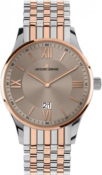 Jacques Lemans 1-1845L - мужские наручные часы из коллекции LondonJacques Lemans<br><br><br>Бренд: Jacques Lemans<br>Модель: Jacques Lemans 1-1845L<br>Артикул: 1-1845L<br>Вариант артикула: None<br>Коллекция: London<br>Подколлекция: None<br>Страна: Австрия<br>Пол: мужские<br>Тип механизма: кварцевые<br>Механизм: None<br>Количество камней: None<br>Автоподзавод: None<br>Источник энергии: от батарейки<br>Срок службы элемента питания: None<br>Дисплей: стрелки<br>Цифры: римские<br>Водозащита: WR 100<br>Противоударные: None<br>Материал корпуса: нерж. сталь, IP покрытие (частичное)<br>Материал браслета: нерж. сталь, IP покрытие (частичное)<br>Материал безеля: None<br>Стекло: минеральное<br>Антибликовое покрытие: None<br>Цвет корпуса: None<br>Цвет браслета: None<br>Цвет циферблата: None<br>Цвет безеля: None<br>Размеры: 40 мм<br>Диаметр: None<br>Диаметр корпуса: None<br>Толщина: None<br>Ширина ремешка: None<br>Вес: None<br>Спорт-функции: None<br>Подсветка: None<br>Вставка: None<br>Отображение даты: число<br>Хронограф: None<br>Таймер: None<br>Термометр: None<br>Хронометр: None<br>GPS: None<br>Радиосинхронизация: None<br>Барометр: None<br>Скелетон: None<br>Дополнительная информация: None<br>Дополнительные функции: None