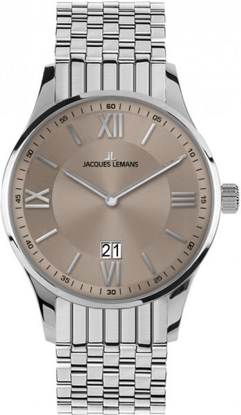 Jacques Lemans 1-1845K - мужские наручные часы из коллекции LondonJacques Lemans<br><br><br>Бренд: Jacques Lemans<br>Модель: Jacques Lemans 1-1845K<br>Артикул: 1-1845K<br>Вариант артикула: None<br>Коллекция: London<br>Подколлекция: None<br>Страна: Австрия<br>Пол: мужские<br>Тип механизма: кварцевые<br>Механизм: None<br>Количество камней: None<br>Автоподзавод: None<br>Источник энергии: от батарейки<br>Срок службы элемента питания: None<br>Дисплей: стрелки<br>Цифры: римские<br>Водозащита: WR 100<br>Противоударные: None<br>Материал корпуса: нерж. сталь<br>Материал браслета: нерж. сталь<br>Материал безеля: None<br>Стекло: минеральное<br>Антибликовое покрытие: None<br>Цвет корпуса: None<br>Цвет браслета: None<br>Цвет циферблата: None<br>Цвет безеля: None<br>Размеры: 40 мм<br>Диаметр: None<br>Диаметр корпуса: None<br>Толщина: None<br>Ширина ремешка: None<br>Вес: None<br>Спорт-функции: None<br>Подсветка: None<br>Вставка: None<br>Отображение даты: число<br>Хронограф: None<br>Таймер: None<br>Термометр: None<br>Хронометр: None<br>GPS: None<br>Радиосинхронизация: None<br>Барометр: None<br>Скелетон: None<br>Дополнительная информация: None<br>Дополнительные функции: None