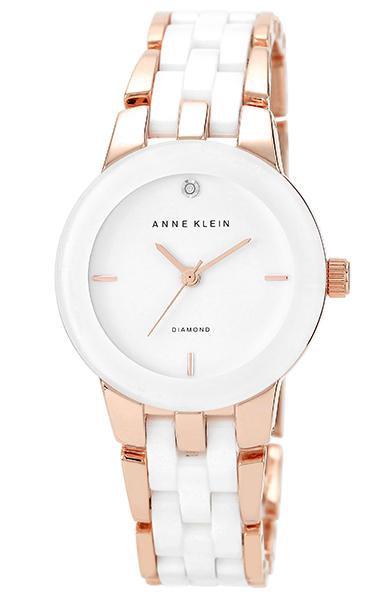 Anne Klein 1610WTRG - женские наручные часы из коллекции DiamondAnne Klein<br><br><br>Бренд: Anne Klein<br>Модель: Anne Klein 1610 WTRG<br>Артикул: 1610WTRG<br>Вариант артикула: None<br>Коллекция: Diamond<br>Подколлекция: None<br>Страна: США<br>Пол: женские<br>Тип механизма: кварцевые<br>Механизм: None<br>Количество камней: None<br>Автоподзавод: None<br>Источник энергии: от батарейки<br>Срок службы элемента питания: None<br>Дисплей: стрелки<br>Цифры: отсутствуют<br>Водозащита: WR 30<br>Противоударные: None<br>Материал корпуса: не указан, частичное покрытие корпуса<br>Материал браслета: не указан, частичное дополнительное покрытие<br>Материал безеля: None<br>Стекло: минеральное<br>Антибликовое покрытие: None<br>Цвет корпуса: None<br>Цвет браслета: None<br>Цвет циферблата: None<br>Цвет безеля: None<br>Размеры: 30x7.5 мм<br>Диаметр: None<br>Диаметр корпуса: None<br>Толщина: None<br>Ширина ремешка: None<br>Вес: None<br>Спорт-функции: None<br>Подсветка: None<br>Вставка: бриллиант<br>Отображение даты: None<br>Хронограф: None<br>Таймер: None<br>Термометр: None<br>Хронометр: None<br>GPS: None<br>Радиосинхронизация: None<br>Барометр: None<br>Скелетон: None<br>Дополнительная информация: браслет с керамическими вставками<br>Дополнительные функции: None