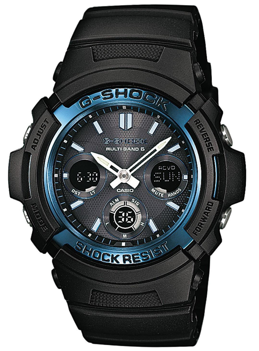 Casio G-SHOCK AWG-M100A-1A / AWG-M100A-1AER - мужские наручные часыCasio<br><br><br>Бренд: Casio<br>Модель: Casio AWG-M100A-1A<br>Артикул: AWG-M100A-1A<br>Вариант артикула: AWG-M100A-1AER<br>Коллекция: G-SHOCK<br>Подколлекция: None<br>Страна: Япония<br>Пол: мужские<br>Тип механизма: кварцевые<br>Механизм: None<br>Количество камней: None<br>Автоподзавод: None<br>Источник энергии: от солнечной батареи<br>Срок службы элемента питания: None<br>Дисплей: стрелки + цифры<br>Цифры: отсутствуют<br>Водозащита: WR 200<br>Противоударные: есть<br>Материал корпуса: нерж. сталь + пластик<br>Материал браслета: каучук<br>Материал безеля: None<br>Стекло: минеральное<br>Антибликовое покрытие: None<br>Цвет корпуса: None<br>Цвет браслета: None<br>Цвет циферблата: None<br>Цвет безеля: None<br>Размеры: 46.4x52x14.9 мм<br>Диаметр: None<br>Диаметр корпуса: None<br>Толщина: None<br>Ширина ремешка: None<br>Вес: 56.4 г<br>Спорт-функции: секундомер, таймер обратного отсчета<br>Подсветка: дисплея, стрелок<br>Вставка: None<br>Отображение даты: вечный календарь, число, месяц, день недели<br>Хронограф: None<br>Таймер: None<br>Термометр: None<br>Хронометр: None<br>GPS: None<br>Радиосинхронизация: None<br>Барометр: None<br>Скелетон: None<br>Дополнительная информация: функция включения/отключения звука кнопок, коррекция времени по радиосигналу (для России данная функция работает в дальневосточных областях и в Ленинградской области)<br>Дополнительные функции: индикатор запаса хода, второй часовой пояс, будильник (количество установок: 5)