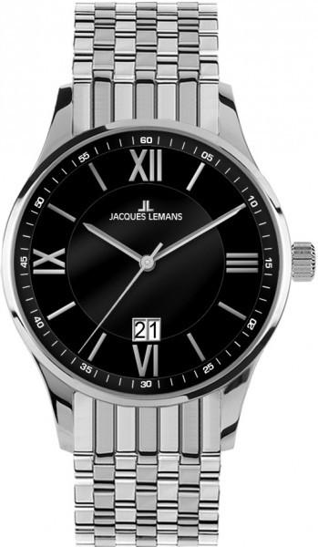Jacques Lemans 1-1845H - мужские наручные часы из коллекции LondonJacques Lemans<br><br><br>Бренд: Jacques Lemans<br>Модель: Jacques Lemans 1-1845H<br>Артикул: 1-1845H<br>Вариант артикула: None<br>Коллекция: London<br>Подколлекция: None<br>Страна: Австрия<br>Пол: мужские<br>Тип механизма: кварцевые<br>Механизм: None<br>Количество камней: None<br>Автоподзавод: None<br>Источник энергии: от батарейки<br>Срок службы элемента питания: None<br>Дисплей: стрелки<br>Цифры: римские<br>Водозащита: WR 10<br>Противоударные: None<br>Материал корпуса: нерж. сталь<br>Материал браслета: нерж. сталь<br>Материал безеля: None<br>Стекло: Crystex<br>Антибликовое покрытие: None<br>Цвет корпуса: None<br>Цвет браслета: None<br>Цвет циферблата: None<br>Цвет безеля: None<br>Размеры: 40 мм<br>Диаметр: None<br>Диаметр корпуса: None<br>Толщина: None<br>Ширина ремешка: None<br>Вес: None<br>Спорт-функции: None<br>Подсветка: None<br>Вставка: None<br>Отображение даты: число<br>Хронограф: None<br>Таймер: None<br>Термометр: None<br>Хронометр: None<br>GPS: None<br>Радиосинхронизация: None<br>Барометр: None<br>Скелетон: None<br>Дополнительная информация: None<br>Дополнительные функции: None