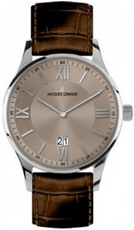 Jacques Lemans 1-1845D - мужские наручные часы из коллекции LondonJacques Lemans<br><br><br>Бренд: Jacques Lemans<br>Модель: Jacques Lemans 1-1845D<br>Артикул: 1-1845D<br>Вариант артикула: None<br>Коллекция: London<br>Подколлекция: None<br>Страна: Австрия<br>Пол: мужские<br>Тип механизма: кварцевые<br>Механизм: None<br>Количество камней: None<br>Автоподзавод: None<br>Источник энергии: от батарейки<br>Срок службы элемента питания: None<br>Дисплей: стрелки<br>Цифры: римские<br>Водозащита: WR 10<br>Противоударные: None<br>Материал корпуса: нерж. сталь<br>Материал браслета: кожа<br>Материал безеля: None<br>Стекло: Crystex<br>Антибликовое покрытие: None<br>Цвет корпуса: None<br>Цвет браслета: None<br>Цвет циферблата: None<br>Цвет безеля: None<br>Размеры: 40 мм<br>Диаметр: None<br>Диаметр корпуса: None<br>Толщина: None<br>Ширина ремешка: None<br>Вес: None<br>Спорт-функции: None<br>Подсветка: None<br>Вставка: None<br>Отображение даты: число<br>Хронограф: None<br>Таймер: None<br>Термометр: None<br>Хронометр: None<br>GPS: None<br>Радиосинхронизация: None<br>Барометр: None<br>Скелетон: None<br>Дополнительная информация: None<br>Дополнительные функции: None