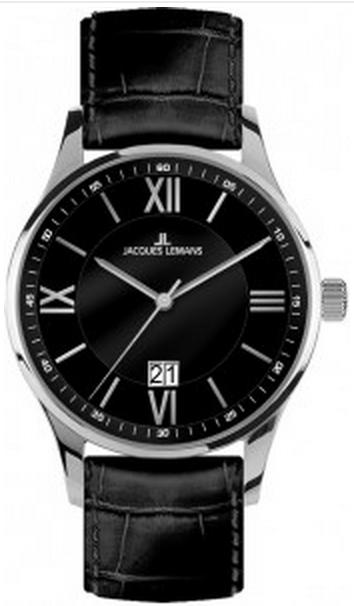 Jacques Lemans 1-1845A - мужские наручные часы из коллекции LondonJacques Lemans<br><br><br>Бренд: Jacques Lemans<br>Модель: Jacques Lemans 1-1845A<br>Артикул: 1-1845A<br>Вариант артикула: None<br>Коллекция: London<br>Подколлекция: None<br>Страна: Австрия<br>Пол: мужские<br>Тип механизма: кварцевые<br>Механизм: None<br>Количество камней: None<br>Автоподзавод: None<br>Источник энергии: от батарейки<br>Срок службы элемента питания: None<br>Дисплей: стрелки<br>Цифры: римские<br>Водозащита: WR 10<br>Противоударные: None<br>Материал корпуса: нерж. сталь<br>Материал браслета: кожа<br>Материал безеля: None<br>Стекло: Crystex<br>Антибликовое покрытие: None<br>Цвет корпуса: None<br>Цвет браслета: None<br>Цвет циферблата: None<br>Цвет безеля: None<br>Размеры: 40 мм<br>Диаметр: None<br>Диаметр корпуса: None<br>Толщина: None<br>Ширина ремешка: None<br>Вес: None<br>Спорт-функции: None<br>Подсветка: None<br>Вставка: None<br>Отображение даты: число<br>Хронограф: None<br>Таймер: None<br>Термометр: None<br>Хронометр: None<br>GPS: None<br>Радиосинхронизация: None<br>Барометр: None<br>Скелетон: None<br>Дополнительная информация: None<br>Дополнительные функции: None