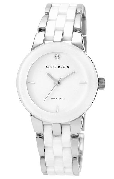 Anne Klein 1611WTSV - женские наручные часы из коллекции DiamondAnne Klein<br><br><br>Бренд: Anne Klein<br>Модель: Anne Klein 1611 WTSV<br>Артикул: 1611WTSV<br>Вариант артикула: None<br>Коллекция: Diamond<br>Подколлекция: None<br>Страна: США<br>Пол: женские<br>Тип механизма: кварцевые<br>Механизм: None<br>Количество камней: None<br>Автоподзавод: None<br>Источник энергии: от батарейки<br>Срок службы элемента питания: None<br>Дисплей: стрелки<br>Цифры: отсутствуют<br>Водозащита: WR 30<br>Противоударные: None<br>Материал корпуса: не указан<br>Материал браслета: не указан<br>Материал безеля: None<br>Стекло: минеральное<br>Антибликовое покрытие: None<br>Цвет корпуса: None<br>Цвет браслета: None<br>Цвет циферблата: None<br>Цвет безеля: None<br>Размеры: 30x8 мм<br>Диаметр: None<br>Диаметр корпуса: None<br>Толщина: None<br>Ширина ремешка: None<br>Вес: None<br>Спорт-функции: None<br>Подсветка: None<br>Вставка: бриллиант<br>Отображение даты: None<br>Хронограф: None<br>Таймер: None<br>Термометр: None<br>Хронометр: None<br>GPS: None<br>Радиосинхронизация: None<br>Барометр: None<br>Скелетон: None<br>Дополнительная информация: браслет с керамическими вставками<br>Дополнительные функции: None