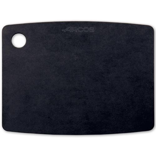 Доска разделочная черная 45х33 см ARCOS Accessories арт. 691810Разделочные доски Arcos<br>Доска разделочная черная 45х33 см ARCOS Accessories арт. 691810<br><br>Кухонные разделочные доски Arcos пригодны для ежедневного использования, и имеют удобную ручку и нескользящую двустороннюю рабочую поверхность, которая не тупит ножи. Специальный материал не впитывает запахи продуктов и легко очищается от остатков пищи. Доски пригодны для мытья в посудомоечной машине.<br>