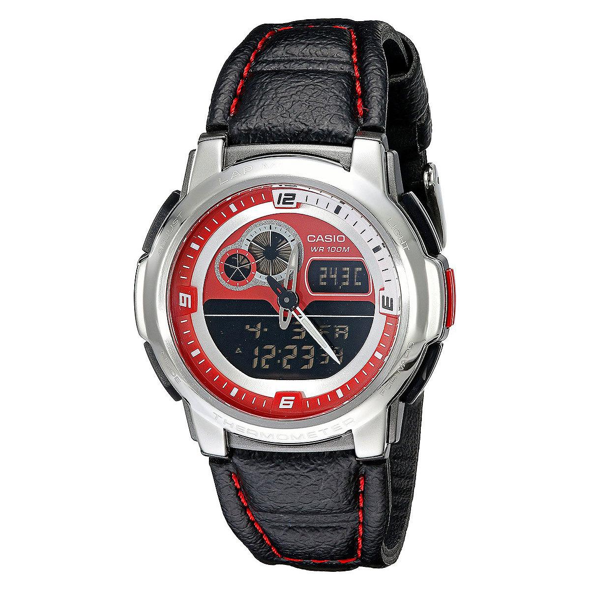 Casio Collection AQF-102WL-4B / AQF-102WL-4BER - мужские наручные часыCasio<br>многофункциональные наручные часы с люминисцентной подсветкой и будильником, автоматическая электролюминисцентная подсветка. благодаря электролюминесцентной панели, обеспечивающей равномерное освещение всего циферблата, облегчается считывание данных. при наклоне часов в сторону лица для считывания функция автоподсветки обеспечивает автоматическое включение электролюминесцентной подсветки. встроенный датчик температуры. отображение текущего времени в основных городах и регионах мира. секундомер с точностью показаний 1/100 сек и максимальным временем измерения - 100 минут. таймер обратного осчета. ежедневный будильник со звуковым сигналом. срок службы батареи 3 года. стекло имеет сферическую поверхность. кожаный ремешок. размер корпуса 42х43 мм, толщина 14 мм.<br><br>Бренд: Casio<br>Модель: Casio AQF-102WL-4B<br>Артикул: AQF-102WL-4B<br>Вариант артикула: AQF-102WL-4BER<br>Коллекция: Collection<br>Подколлекция: None<br>Страна: Япония<br>Пол: мужские<br>Тип механизма: кварцевые<br>Механизм: None<br>Количество камней: None<br>Автоподзавод: None<br>Источник энергии: от батарейки<br>Срок службы элемента питания: None<br>Дисплей: стрелки + цифры<br>Цифры: арабские<br>Водозащита: WR 100<br>Противоударные: None<br>Материал корпуса: нерж. сталь + пластик<br>Материал браслета: кожа<br>Материал безеля: None<br>Стекло: пластиковое<br>Антибликовое покрытие: None<br>Цвет корпуса: None<br>Цвет браслета: None<br>Цвет циферблата: None<br>Цвет безеля: None<br>Размеры: 43x44.2x14.1 мм<br>Диаметр: None<br>Диаметр корпуса: None<br>Толщина: None<br>Ширина ремешка: None<br>Вес: None<br>Спорт-функции: секундомер, таймер обратного отсчета, термометр<br>Подсветка: дисплея<br>Вставка: None<br>Отображение даты: вечный календарь, число, месяц, год, день недели<br>Хронограф: None<br>Таймер: None<br>Термометр: None<br>Хронометр: None<br>GPS: None<br>Радиосинхронизация: None<br>Барометр: None<br>Скелетон: None<br>Дополнит