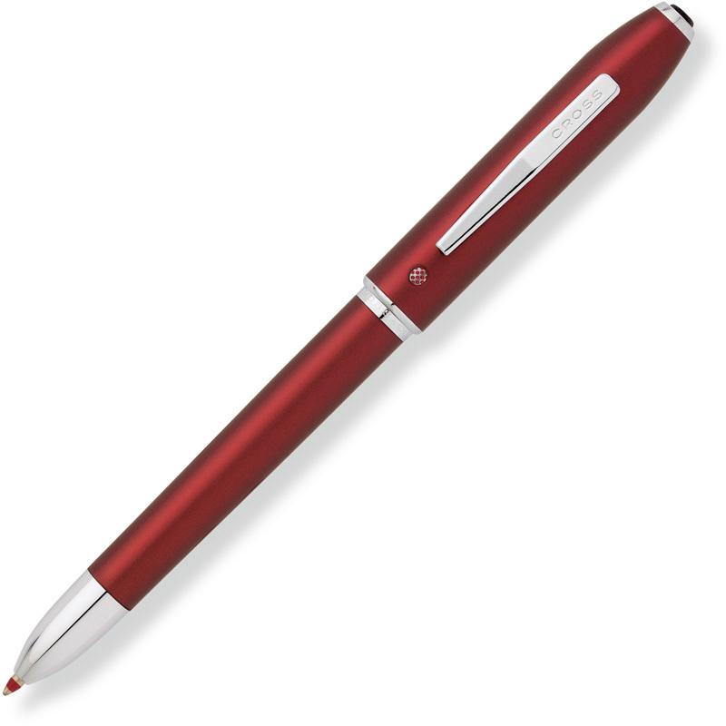 Cross Tech4 - Formula Red, многофункциональная ручка, M, BL+RTech<br>ОсобенностиCross Tech4:<br><br>новаяsmooth touch технология отделки корпуса: вид полиуретанового покрытия, которое создается путем наложения множественных слоев, каждый из которых тщательно просушен:  - Комфортное, гладкое покрытие. - Противоскользящее. - Крайне прочное полиуретановое покрытие.<br>классический стиль;<br>4-х функциональная мульти-ручка;<br>окошко-индикатор показывает выбранную пишущую систему;<br>инновационный механизм, автоматически выдвигающий ластик;<br>гладкий, граненный, отполированный до блеска клип – современнаядеталь отделки;<br>мягкий, односторонне поворотный механизм.<br><br><br>Бренд Cross<br>Американская компания Cross основана в 1846 году ювелиром Алонзо Кроссом. С тех пор и по сей день компания держит курс на высочайшее качество продукции, тщательную проработку дизайна и постоянные инновации.<br>Основатель фирмы Cross внес огромный вклад в развитие пишущих приборов в целом. Например, на основе изобретенной им ручки-стилографа, созданы столь привычные нам шариковые ручки.<br>На сегодняшний день,A. T. Cross Companyпринадлежит более 20 патентов в сфере пишущих инструментов.<br>Основу ассортимента компании составляют функциональные пишущие инструменты премиум класса:<br>• перьевые ручкис запатентованной системой подачи чернил;<br>• ручки-роллерыс системой Selectip, позволяющей владельцу использовать различные виды стержней (шариковый, роллер или капиллярный);<br>• шариковые ручкис гидравлическим механизмом выдвижения стержня. При этом шариковую ручку Cross можно легко преобразовать в механический карандаш при помощи специального конвертера Switch-it, который также является запатентованным изобретением компании.<br>
