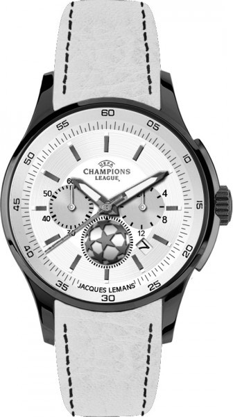Jacques Lemans U-32S - мужские наручные часы из коллекции UEFAJacques Lemans<br><br><br>Бренд: Jacques Lemans<br>Модель: Jacques Lemans U-32S<br>Артикул: U-32S<br>Вариант артикула: None<br>Коллекция: UEFA<br>Подколлекция: None<br>Страна: Австрия<br>Пол: мужские<br>Тип механизма: кварцевые<br>Механизм: None<br>Количество камней: None<br>Автоподзавод: None<br>Источник энергии: от батарейки<br>Срок службы элемента питания: None<br>Дисплей: стрелки<br>Цифры: отсутствуют<br>Водозащита: WR 100<br>Противоударные: None<br>Материал корпуса: нерж. сталь, IP покрытие (полное)<br>Материал браслета: кожа<br>Материал безеля: None<br>Стекло: минеральное<br>Антибликовое покрытие: None<br>Цвет корпуса: None<br>Цвет браслета: None<br>Цвет циферблата: None<br>Цвет безеля: None<br>Размеры: 42 мм<br>Диаметр: None<br>Диаметр корпуса: None<br>Толщина: None<br>Ширина ремешка: None<br>Вес: None<br>Спорт-функции: секундомер<br>Подсветка: стрелок<br>Вставка: None<br>Отображение даты: число<br>Хронограф: есть<br>Таймер: None<br>Термометр: None<br>Хронометр: None<br>GPS: None<br>Радиосинхронизация: None<br>Барометр: None<br>Скелетон: None<br>Дополнительная информация: None<br>Дополнительные функции: None