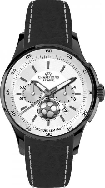Jacques Lemans U-32R - мужские наручные часы из коллекции UEFAJacques Lemans<br><br><br>Бренд: Jacques Lemans<br>Модель: Jacques Lemans U-32R<br>Артикул: U-32R<br>Вариант артикула: None<br>Коллекция: UEFA<br>Подколлекция: None<br>Страна: Австрия<br>Пол: мужские<br>Тип механизма: кварцевые<br>Механизм: None<br>Количество камней: None<br>Автоподзавод: None<br>Источник энергии: от батарейки<br>Срок службы элемента питания: None<br>Дисплей: стрелки<br>Цифры: отсутствуют<br>Водозащита: WR 100<br>Противоударные: None<br>Материал корпуса: нерж. сталь, IP покрытие (полное)<br>Материал браслета: кожа<br>Материал безеля: None<br>Стекло: минеральное<br>Антибликовое покрытие: None<br>Цвет корпуса: None<br>Цвет браслета: None<br>Цвет циферблата: None<br>Цвет безеля: None<br>Размеры: 42 мм<br>Диаметр: None<br>Диаметр корпуса: None<br>Толщина: None<br>Ширина ремешка: None<br>Вес: None<br>Спорт-функции: секундомер<br>Подсветка: стрелок<br>Вставка: None<br>Отображение даты: число<br>Хронограф: есть<br>Таймер: None<br>Термометр: None<br>Хронометр: None<br>GPS: None<br>Радиосинхронизация: None<br>Барометр: None<br>Скелетон: None<br>Дополнительная информация: None<br>Дополнительные функции: None