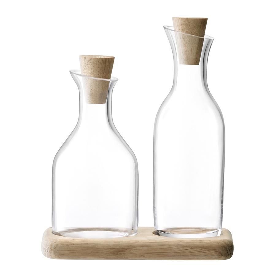 Набор графинов для масла и уксуса на подставке Serve LSA G1268-00-991Ёмкости для масла и уксуса<br><br>