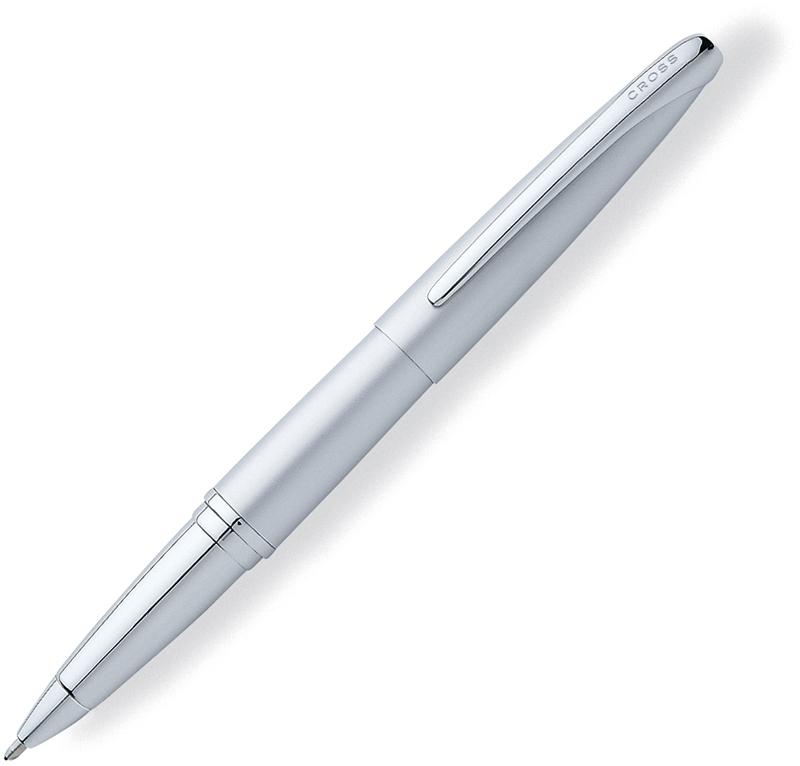 Cross ATX - Matte Chrome, ручка-роллер, M, BLATX<br>Когда ручку удобно держать в руке, она становится средством выражения Ваших мыслей. Возьмите Cross ATX и дайте волю своему воображению. Эргономичный и с балансированный дизайн с плавными контурами дарит непревзойденный комфорт письма.<br><br>Бренд Cross<br>Американская компания Cross основана в 1846 году ювелиром Алонзо Кроссом. С тех пор и по сей день компания держит курс на высочайшее качество продукции, тщательную проработку дизайна и постоянные инновации.<br>Основатель фирмы Cross внес огромный вклад в развитие пишущих приборов в целом. Например, на основе изобретенной им ручки-стилографа, созданы столь привычные нам шариковые ручки.<br>На сегодняшний день,A. T. Cross Companyпринадлежит более 20 патентов в сфере пишущих инструментов.<br>Основу ассортимента компании составляют функциональные пишущие инструменты премиум класса:<br>• перьевые ручкис запатентованной системой подачи чернил;<br>• ручки-роллерыс системой Selectip, позволяющей владельцу использовать различные виды стержней (шариковый, роллер или капиллярный);<br>• шариковые ручкис гидравлическим механизмом выдвижения стержня. При этом шариковую ручку Cross можно легко преобразовать в механический карандаш при помощи специального конвертера Switch-it, который также является запатентованным изобретением компании.<br>