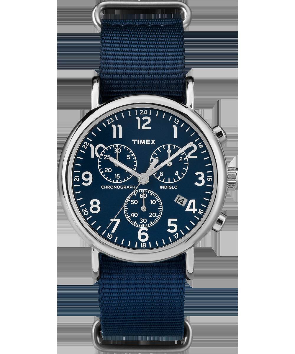 Timex TW2P71300 - мужские наручные часы из коллекции WeekenderTimex<br><br><br>Бренд: Timex<br>Модель: Timex TW2P71300<br>Артикул: TW2P71300<br>Вариант артикула: None<br>Коллекция: Weekender<br>Подколлекция: None<br>Страна: США<br>Пол: мужские<br>Тип механизма: кварцевые<br>Механизм: None<br>Количество камней: None<br>Автоподзавод: None<br>Источник энергии: от батарейки<br>Срок службы элемента питания: None<br>Дисплей: стрелки<br>Цифры: арабские<br>Водозащита: WR 30<br>Противоударные: None<br>Материал корпуса: не указан<br>Материал браслета: текстиль<br>Материал безеля: None<br>Стекло: минеральное<br>Антибликовое покрытие: None<br>Цвет корпуса: None<br>Цвет браслета: None<br>Цвет циферблата: синий<br>Цвет безеля: None<br>Размеры: 40x11 мм<br>Диаметр: 40 мм<br>Диаметр корпуса: None<br>Толщина: 9 мм<br>Ширина ремешка: None<br>Вес: None<br>Спорт-функции: секундомер<br>Подсветка: None<br>Вставка: None<br>Отображение даты: число<br>Хронограф: есть<br>Таймер: None<br>Термометр: None<br>Хронометр: None<br>GPS: None<br>Радиосинхронизация: None<br>Барометр: None<br>Скелетон: None<br>Дополнительная информация: дополнительная шкала от 13 до 24 часов<br>Дополнительные функции: None