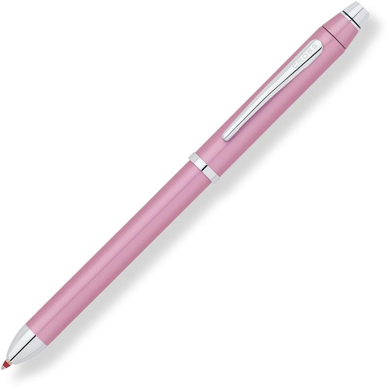 Cross Tech3+ - Frosty Pink, многофункциональная ручка со стилусом, M, BL+RTech<br>Коллекция Tech3+созданадля современных людей и воплощает в себе универсальность, удобство и стиль! Ручка с классическим дизайном корпуса включает в себя три функции: черную шариковую ручку, красную шариковую ручку и карандаш.<br>Легкий поворот, и черная шариковая ручка превращается в ручку с красными чернилами, которая так удобна для редактирования, еще поворот, и у вас в руках механический карандаш. На обратном конце этой универсальной ручки находится стилус повышенной точности, который станет прекрасным помощником в работе с сенсорным устройством. Ручка также имеет ластик.<br><br>Бренд Cross<br>Американская компания Cross основана в 1846 году ювелиром Алонзо Кроссом. С тех пор и по сей день компания держит курс на высочайшее качество продукции, тщательную проработку дизайна и постоянные инновации.<br>Основатель фирмы Cross внес огромный вклад в развитие пишущих приборов в целом. Например, на основе изобретенной им ручки-стилографа, созданы столь привычные нам шариковые ручки.<br>На сегодняшний день,A. T. Cross Companyпринадлежит более 20 патентов в сфере пишущих инструментов.<br>Основу ассортимента компании составляют функциональные пишущие инструменты премиум класса:<br>• перьевые ручкис запатентованной системой подачи чернил;<br>• ручки-роллерыс системой Selectip, позволяющей владельцу использовать различные виды стержней (шариковый, роллер или капиллярный);<br>• шариковые ручкис гидравлическим механизмом выдвижения стержня. При этом шариковую ручку Cross можно легко преобразовать в механический карандаш при помощи специального конвертера Switch-it, который также является запатентованным изобретением компании.<br><br>Видео: Cross Tech3<br>