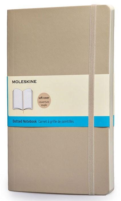 Блокнот Moleskine Classic Soft, цвет бежевый, пунктирMOLESKINE<br>Количество страниц: 192<br>
