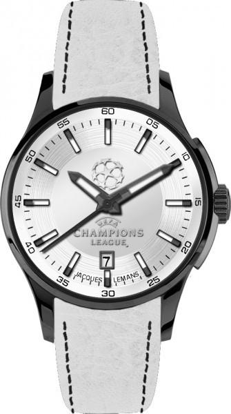 Jacques Lemans U-35J - мужские наручные часы из коллекции UEFAJacques Lemans<br><br><br>Бренд: Jacques Lemans<br>Модель: Jacques Lemans U-35J<br>Артикул: U-35J<br>Вариант артикула: None<br>Коллекция: UEFA<br>Подколлекция: None<br>Страна: Австрия<br>Пол: мужские<br>Тип механизма: кварцевые<br>Механизм: None<br>Количество камней: None<br>Автоподзавод: None<br>Источник энергии: от батарейки<br>Срок службы элемента питания: None<br>Дисплей: стрелки<br>Цифры: отсутствуют<br>Водозащита: WR 10<br>Противоударные: None<br>Материал корпуса: нерж. сталь, IP покрытие (полное)<br>Материал браслета: кожа<br>Материал безеля: None<br>Стекло: Crystex<br>Антибликовое покрытие: None<br>Цвет корпуса: None<br>Цвет браслета: None<br>Цвет циферблата: None<br>Цвет безеля: None<br>Размеры: 42 мм<br>Диаметр: None<br>Диаметр корпуса: None<br>Толщина: None<br>Ширина ремешка: None<br>Вес: None<br>Спорт-функции: None<br>Подсветка: стрелок<br>Вставка: None<br>Отображение даты: число<br>Хронограф: None<br>Таймер: None<br>Термометр: None<br>Хронометр: None<br>GPS: None<br>Радиосинхронизация: None<br>Барометр: None<br>Скелетон: None<br>Дополнительная информация: None<br>Дополнительные функции: None