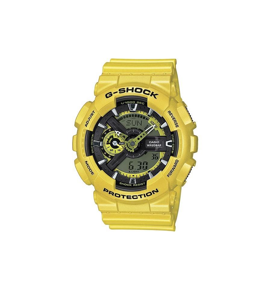 Casio G-SHOCK GA-110NM-9A / GA-110NM-9AER - мужские наручные часыCasio<br><br><br>Бренд: Casio<br>Модель: Casio GA-110NM-9A<br>Артикул: GA-110NM-9A<br>Вариант артикула: GA-110NM-9AER<br>Коллекция: G-SHOCK<br>Подколлекция: None<br>Страна: Япония<br>Пол: мужские<br>Тип механизма: кварцевые<br>Механизм: None<br>Количество камней: None<br>Автоподзавод: None<br>Источник энергии: от батарейки<br>Срок службы элемента питания: None<br>Дисплей: стрелки + цифры<br>Цифры: отсутствуют<br>Водозащита: WR 200<br>Противоударные: есть<br>Материал корпуса: пластик<br>Материал браслета: пластик<br>Материал безеля: None<br>Стекло: минеральное<br>Антибликовое покрытие: None<br>Цвет корпуса: None<br>Цвет браслета: None<br>Цвет циферблата: None<br>Цвет безеля: None<br>Размеры: None<br>Диаметр: None<br>Диаметр корпуса: None<br>Толщина: None<br>Ширина ремешка: None<br>Вес: 72 г<br>Спорт-функции: секундомер, таймер обратного отсчета<br>Подсветка: дисплея, стрелок<br>Вставка: None<br>Отображение даты: число, месяц, день недели<br>Хронограф: есть<br>Таймер: None<br>Термометр: None<br>Хронометр: None<br>GPS: None<br>Радиосинхронизация: None<br>Барометр: None<br>Скелетон: None<br>Дополнительная информация: None<br>Дополнительные функции: второй часовой пояс, будильник (количество установок: 5)