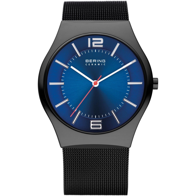Bering 32039-447 - мужские наручные часы из коллекции CeramicBering<br>мужские, сапфировое стекло, корпус из керамики черного цвета,  браслет из нерж. стали с покрытием pvd черного цвета , циферблат синего цвета, центральная секундная стрелка<br><br>Бренд: Bering<br>Модель: Bering 32039-447<br>Артикул: 32039-447<br>Вариант артикула: ber-32039-447<br>Коллекция: Ceramic<br>Подколлекция: None<br>Страна: Дания<br>Пол: мужские<br>Тип механизма: кварцевые<br>Механизм: None<br>Количество камней: None<br>Автоподзавод: None<br>Источник энергии: от батарейки<br>Срок службы элемента питания: None<br>Дисплей: стрелки<br>Цифры: арабские<br>Водозащита: WR 30<br>Противоударные: None<br>Материал корпуса: керамика<br>Материал браслета: кожа (теленок)<br>Материал безеля: None<br>Стекло: сапфировое<br>Антибликовое покрытие: None<br>Цвет корпуса: черный<br>Цвет браслета: черный<br>Цвет циферблата: None<br>Цвет безеля: None<br>Размеры: 39 мм<br>Диаметр: 39 мм<br>Диаметр корпуса: None<br>Толщина: None<br>Ширина ремешка: None<br>Вес: None<br>Спорт-функции: None<br>Подсветка: None<br>Вставка: None<br>Отображение даты: None<br>Хронограф: None<br>Таймер: None<br>Термометр: None<br>Хронометр: None<br>GPS: None<br>Радиосинхронизация: None<br>Барометр: None<br>Скелетон: None<br>Дополнительная информация: None<br>Дополнительные функции: None