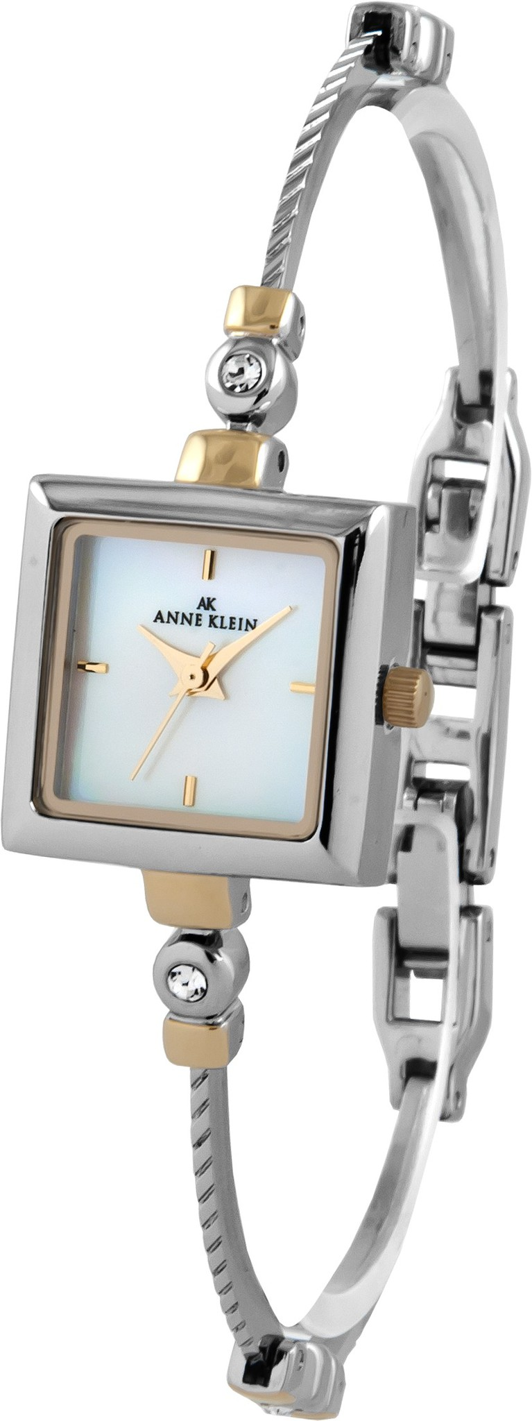 Anne Klein 9117MPTT - женские наручные часы из коллекции CrystalAnne Klein<br><br><br>Бренд: Anne Klein<br>Модель: Anne Klein 9117 MPTT<br>Артикул: 9117MPTT<br>Вариант артикула: None<br>Коллекция: Crystal<br>Подколлекция: None<br>Страна: США<br>Пол: женские<br>Тип механизма: кварцевые<br>Механизм: None<br>Количество камней: None<br>Автоподзавод: None<br>Источник энергии: от батарейки<br>Срок службы элемента питания: None<br>Дисплей: стрелки<br>Цифры: отсутствуют<br>Водозащита: WR 30<br>Противоударные: None<br>Материал корпуса: нерж. сталь, покрытие: позолота (частичное)<br>Материал браслета: не указан, покрытие: позолота (частичное)<br>Материал безеля: None<br>Стекло: минеральное<br>Антибликовое покрытие: None<br>Цвет корпуса: None<br>Цвет браслета: None<br>Цвет циферблата: None<br>Цвет безеля: None<br>Размеры: None<br>Диаметр: None<br>Диаметр корпуса: None<br>Толщина: None<br>Ширина ремешка: None<br>Вес: None<br>Спорт-функции: None<br>Подсветка: None<br>Вставка: кристаллы Swarovski<br>Отображение даты: None<br>Хронограф: None<br>Таймер: None<br>Термометр: None<br>Хронометр: None<br>GPS: None<br>Радиосинхронизация: None<br>Барометр: None<br>Скелетон: None<br>Дополнительная информация: None<br>Дополнительные функции: None