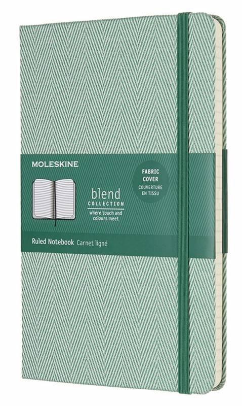 Блокнот Moleskine Blend Large Limited Edition, цвет зеленый, в линейкуMOLESKINE<br>Количество страниц: 192<br>