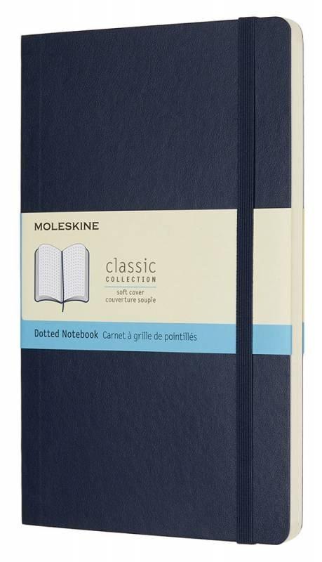 Блокнот Moleskine Classic Soft, цвет синий сапфир, пунктирMOLESKINE<br>Количество страниц: 192<br>