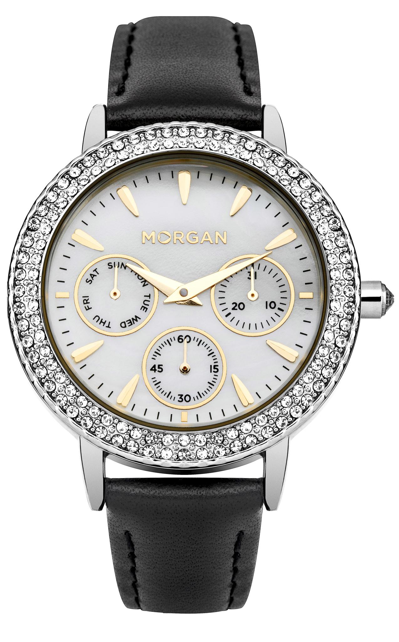 Morgan M1248B - женские наручные часы из коллекции LAETITIAMorgan<br><br><br>Бренд: Morgan<br>Модель: Morgan M1248B<br>Артикул: M1248B<br>Вариант артикула: None<br>Коллекция: LAETITIA<br>Подколлекция: None<br>Страна: Франция<br>Пол: женские<br>Тип механизма: кварцевые<br>Механизм: Miyota VD75<br>Количество камней: None<br>Автоподзавод: None<br>Источник энергии: от батарейки<br>Срок службы элемента питания: None<br>Дисплей: стрелки<br>Цифры: отсутствуют<br>Водозащита: WR 30<br>Противоударные: None<br>Материал корпуса: нерж. сталь<br>Материал браслета: кожа<br>Материал безеля: None<br>Стекло: минеральное<br>Антибликовое покрытие: None<br>Цвет корпуса: None<br>Цвет браслета: None<br>Цвет циферблата: None<br>Цвет безеля: None<br>Размеры: 36 мм<br>Диаметр: None<br>Диаметр корпуса: None<br>Толщина: None<br>Ширина ремешка: None<br>Вес: None<br>Спорт-функции: None<br>Подсветка: None<br>Вставка: None<br>Отображение даты: число, день недели<br>Хронограф: None<br>Таймер: None<br>Термометр: None<br>Хронометр: None<br>GPS: None<br>Радиосинхронизация: None<br>Барометр: None<br>Скелетон: None<br>Дополнительная информация: None<br>Дополнительные функции: None