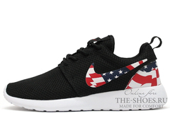Кроссовки Мужские Nike Roshe Run Black USA