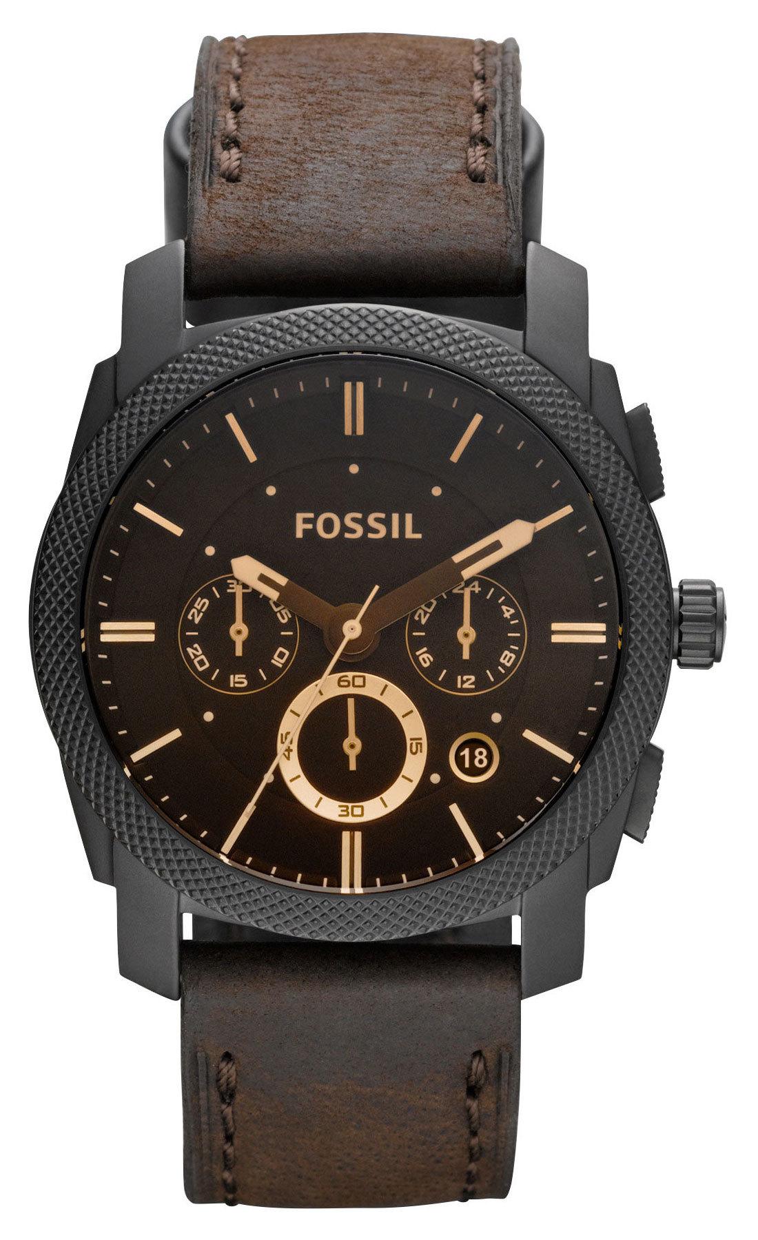 Fossil FS4656 - мужские наручные часы из коллекции FashionFossil<br><br><br>Бренд: Fossil<br>Модель: Fossil FS4656<br>Артикул: FS4656<br>Вариант артикула: None<br>Коллекция: Fashion<br>Подколлекция: None<br>Страна: США<br>Пол: мужские<br>Тип механизма: кварцевые<br>Механизм: None<br>Количество камней: None<br>Автоподзавод: None<br>Источник энергии: от батарейки<br>Срок службы элемента питания: None<br>Дисплей: стрелки<br>Цифры: отсутствуют<br>Водозащита: WR 50<br>Противоударные: None<br>Материал корпуса: нерж. сталь, PVD покрытие (полное)<br>Материал браслета: кожа<br>Материал безеля: None<br>Стекло: минеральное<br>Антибликовое покрытие: None<br>Цвет корпуса: None<br>Цвет браслета: None<br>Цвет циферблата: None<br>Цвет безеля: None<br>Размеры: 42x12 мм<br>Диаметр: None<br>Диаметр корпуса: None<br>Толщина: None<br>Ширина ремешка: None<br>Вес: None<br>Спорт-функции: секундомер<br>Подсветка: None<br>Вставка: None<br>Отображение даты: число<br>Хронограф: есть<br>Таймер: None<br>Термометр: None<br>Хронометр: None<br>GPS: None<br>Радиосинхронизация: None<br>Барометр: None<br>Скелетон: None<br>Дополнительная информация: None<br>Дополнительные функции: None