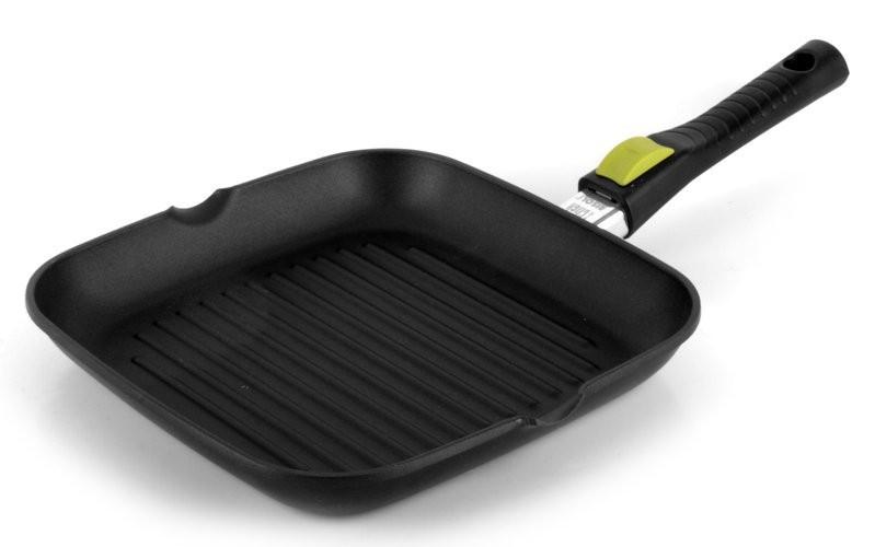 Литая сковорода-гриль со съемной ручкой Risoli Click 26x26см 00094S/26T00Сковороды<br><br>