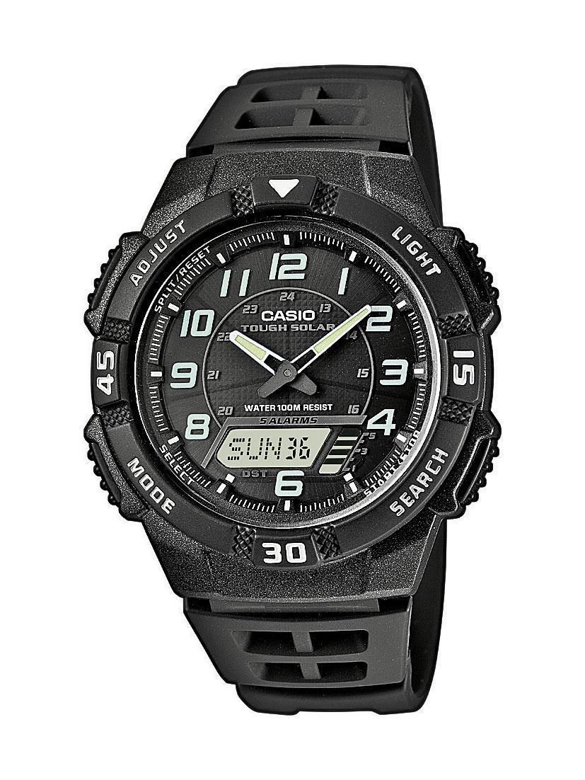 Casio Collection AQ-S800W-1B / AQ-S800W-1BER - мужские наручные часыCasio<br><br><br>Бренд: Casio<br>Модель: Casio AQ-S800W-1B<br>Артикул: AQ-S800W-1B<br>Вариант артикула: AQ-S800W-1BER<br>Коллекция: Collection<br>Подколлекция: None<br>Страна: Япония<br>Пол: мужские<br>Тип механизма: кварцевые<br>Механизм: None<br>Количество камней: None<br>Автоподзавод: None<br>Источник энергии: от солнечной батареи<br>Срок службы элемента питания: None<br>Дисплей: стрелки + цифры<br>Цифры: арабские<br>Водозащита: WR 100<br>Противоударные: None<br>Материал корпуса: пластик<br>Материал браслета: каучук<br>Материал безеля: None<br>Стекло: пластиковое<br>Антибликовое покрытие: None<br>Цвет корпуса: None<br>Цвет браслета: None<br>Цвет циферблата: None<br>Цвет безеля: None<br>Размеры: 42x47.6x10.6 мм<br>Диаметр: None<br>Диаметр корпуса: None<br>Толщина: None<br>Ширина ремешка: None<br>Вес: 33 г<br>Спорт-функции: секундомер, таймер обратного отсчета<br>Подсветка: дисплея, стрелок<br>Вставка: None<br>Отображение даты: вечный календарь, число, день недели<br>Хронограф: None<br>Таймер: None<br>Термометр: None<br>Хронометр: None<br>GPS: None<br>Радиосинхронизация: None<br>Барометр: None<br>Скелетон: None<br>Дополнительная информация: функция включения/отключения звука<br>Дополнительные функции: индикатор запаса хода, второй часовой пояс, будильник (количество установок: 5)