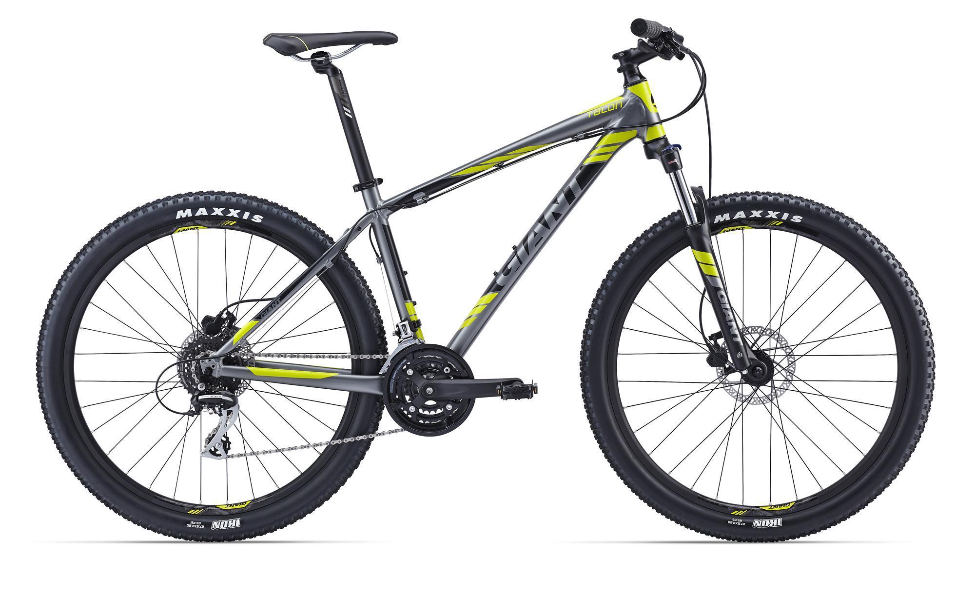 """Giant Talon 27.5 4 (2016)Горные<br>Этот велосипед всей своей натурой рвется к новым подъемам, спускам, резким поворотам, стремительным ускорениям, веди именно для этого он и был разработан. Его отличные характеристики обеспечиваются продуманной рамой, специально разработанной под размер колес 27,5"""", которая выполнена по технологии баттинга из алюминия ALUXX. Отличный вес обеспечен! Амортизационная вилка имеет блокировку, Talon 27.5 4 также укомплектован мощными и понятно работающими дисковыми тормозами. Потрясающий снаряд для свежих эмоций.<br>"""