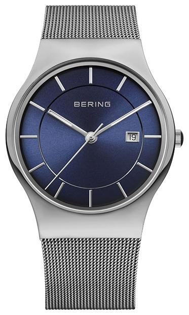 Bering 11938-003 - мужские наручные часыBering<br>миланский браслет, сапфировое стекло, slim design, циферблат синего цвета<br><br>Бренд: Bering<br>Модель: Bering 11938-003<br>Артикул: 11938-003<br>Вариант артикула: ber-11938-003<br>Коллекция: None<br>Подколлекция: None<br>Страна: Дания<br>Пол: мужские<br>Тип механизма: кварцевые<br>Механизм: None<br>Количество камней: None<br>Автоподзавод: None<br>Источник энергии: от батарейки<br>Срок службы элемента питания: None<br>Дисплей: стрелки<br>Цифры: отсутствуют<br>Водозащита: WR 50<br>Противоударные: None<br>Материал корпуса: нерж. сталь<br>Материал браслета: нерж. сталь<br>Материал безеля: None<br>Стекло: сапфировое<br>Антибликовое покрытие: None<br>Цвет корпуса: None<br>Цвет браслета: None<br>Цвет циферблата: None<br>Цвет безеля: None<br>Размеры: 38 мм<br>Диаметр: None<br>Диаметр корпуса: None<br>Толщина: None<br>Ширина ремешка: None<br>Вес: None<br>Спорт-функции: None<br>Подсветка: стрелок<br>Вставка: None<br>Отображение даты: число<br>Хронограф: None<br>Таймер: None<br>Термометр: None<br>Хронометр: None<br>GPS: None<br>Радиосинхронизация: None<br>Барометр: None<br>Скелетон: None<br>Дополнительная информация: None<br>Дополнительные функции: указатель фаз Луны