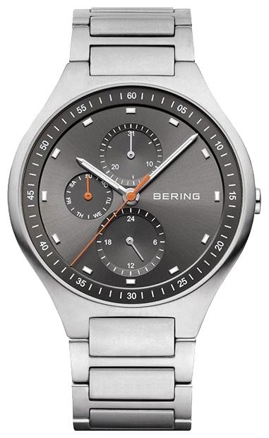 Bering 11741-702 - мужские наручные часыBering<br>мужские, сапфировое стекло, корпус из титана,  браслет из титана, циферблат серого цвета, multifunction<br><br>Бренд: Bering<br>Модель: Bering 11741-702<br>Артикул: 11741-702<br>Вариант артикула: ber-11741-702<br>Коллекция: None<br>Подколлекция: None<br>Страна: Дания<br>Пол: мужские<br>Тип механизма: кварцевые<br>Механизм: None<br>Количество камней: None<br>Автоподзавод: None<br>Источник энергии: от батарейки<br>Срок службы элемента питания: None<br>Дисплей: стрелки<br>Цифры: отсутствуют<br>Водозащита: WR 100<br>Противоударные: None<br>Материал корпуса: титан<br>Материал браслета: титан<br>Материал безеля: None<br>Стекло: сапфировое<br>Антибликовое покрытие: None<br>Цвет корпуса: None<br>Цвет браслета: None<br>Цвет циферблата: None<br>Цвет безеля: None<br>Размеры: 41 мм<br>Диаметр: None<br>Диаметр корпуса: None<br>Толщина: None<br>Ширина ремешка: None<br>Вес: None<br>Спорт-функции: None<br>Подсветка: стрелок<br>Вставка: None<br>Отображение даты: число, день недели<br>Хронограф: None<br>Таймер: None<br>Термометр: None<br>Хронометр: None<br>GPS: None<br>Радиосинхронизация: None<br>Барометр: None<br>Скелетон: None<br>Дополнительная информация: None<br>Дополнительные функции: None