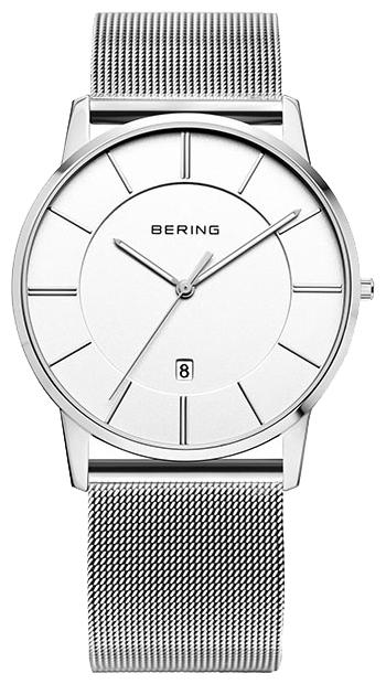 Bering 13139-000 - унисекс наручные часыBering<br>мужские, классические,  сапфировое стекло, дата<br><br>Бренд: Bering<br>Модель: Bering 13139-000<br>Артикул: 13139-000<br>Вариант артикула: ber-13139-000<br>Коллекция: None<br>Подколлекция: None<br>Страна: Дания<br>Пол: унисекс<br>Тип механизма: кварцевые<br>Механизм: None<br>Количество камней: None<br>Автоподзавод: None<br>Источник энергии: от батарейки<br>Срок службы элемента питания: None<br>Дисплей: стрелки<br>Цифры: отсутствуют<br>Водозащита: WR 50<br>Противоударные: None<br>Материал корпуса: нерж. сталь<br>Материал браслета: нерж. сталь<br>Материал безеля: None<br>Стекло: сапфировое<br>Антибликовое покрытие: None<br>Цвет корпуса: None<br>Цвет браслета: None<br>Цвет циферблата: None<br>Цвет безеля: None<br>Размеры: 39 мм<br>Диаметр: None<br>Диаметр корпуса: None<br>Толщина: None<br>Ширина ремешка: None<br>Вес: None<br>Спорт-функции: None<br>Подсветка: стрелок<br>Вставка: None<br>Отображение даты: число<br>Хронограф: None<br>Таймер: None<br>Термометр: None<br>Хронометр: None<br>GPS: None<br>Радиосинхронизация: None<br>Барометр: None<br>Скелетон: None<br>Дополнительная информация: None<br>Дополнительные функции: None